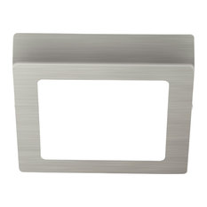 1x14W LED Square Ceiling Light in Matte Nickel Finish and White Glass