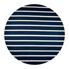 "Rizzy Azzura Hill Ah-9949 Striped Rug, Indigo, 8'0""x8'0"" Round"