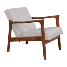 Alpine Furniture Zephyr Slate Wood Lounge Chair In Brown-Gray