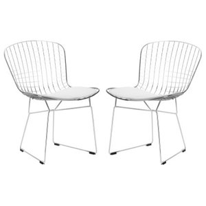 Poly and Bark Morph Side Chair, White, Set of 2