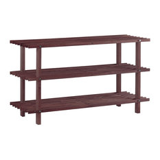 Furinno - Furinno Pine Wood Shoe Rack, Cherry - Shoe Storage