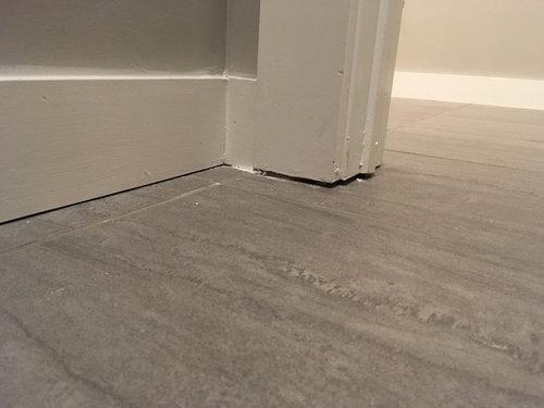 New Construction Gaps Between Floor And Baseboards