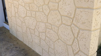 Feature Limestone Render - Home Group WA Millbridge