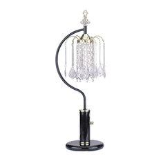 Acme Chandelier Table Lamp, Black
