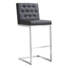 Helsinki Black Stainless Steel Barstool - Set Of 2