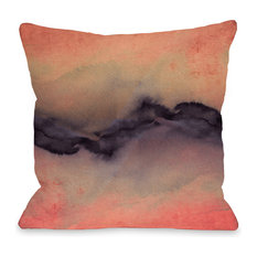 """""""The Vibe"""" Indoor Throw Pillow by Julia Di Sano, Rose/Violet, 18""""x18"""""""