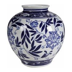 Benzara, Woodland Imprts, The Urban Port - Gorgeous Pot Shaped Vase - Vases