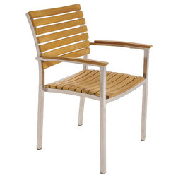 Contemporary Outdoor Dining Chairs by Westminster Teak