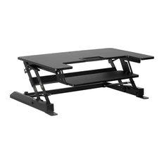 "Mount-It! Standing Desk Converter With Gas Spring Riser, Wide 36"" Workstation"