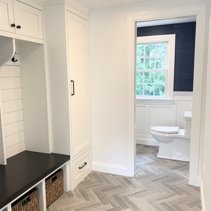 Transitional Half Bath and Mudroom