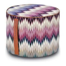 "Phrae Cylinder Pouf, Multicolor, 16""x12"""