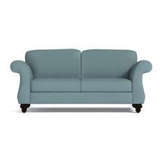 "Ryandale Apartment Size Sofa, Cloud Velvet, 80""x36""x28"""