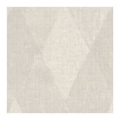 Geometric Harlequin Canvas Texture Wallpaper, Taupe, 1 Bolt