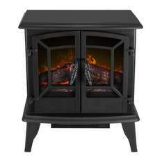 1400W Infrared Stove Fireplace Heater, Black