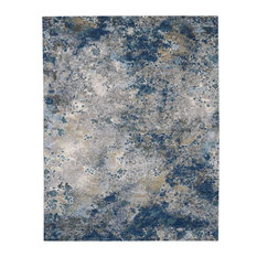 Nourison Artworks Rectangle 9'6   x 12'6   Blue And Grey Area Rug 099446710741