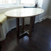 Custom green marble table