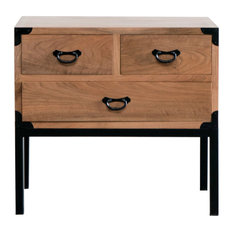 Gingko Home Furnishings - Kobe Side Table, Natural Walnut - Side Tables and End Tables