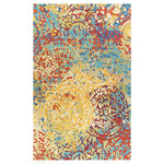 Company C - Meange Wool Hand Tufted 8'x10' Rug, Multi - Our Meange hand-tufted area rug features an abstract over-scaled pattern and an explosion of colors. This area rug is a modern mix accented by the subtle texture of cut and loop pile construction, and a, perfect addition to any living room or bedroom.