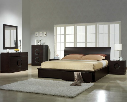 Stylish Wood High End Elite Furniture With Extra Storage   Beds