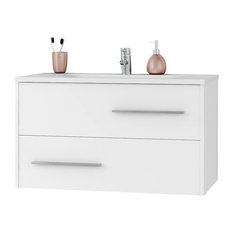 Ivy 36.2-inch Wall Glossy  Bathroom Vanity White