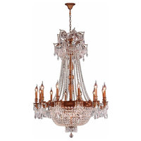 Winchester Collection 18 Light French Gold Finish and Clear Crystal Chandelier 3