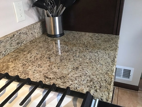 Granite Is Lighter Where Cutting Board Was
