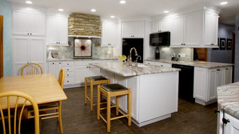 Bright white cabinetry