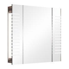 Beatle Audio Demister Bathroom Mirror Cabinet, 60x65 cm