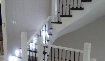 Лестница с кованным ограждением
