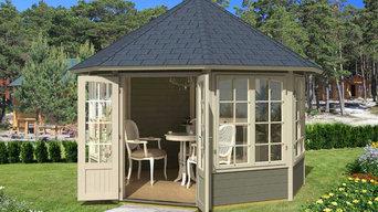 EZ Log Custom Cottage and Gazebo Kits