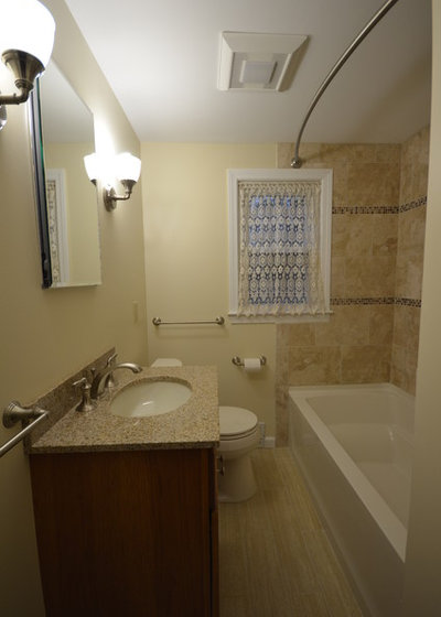 traditional bathroom by perfectview remodeling llc - Cost Of Average Bathroom Remodel