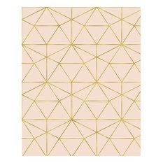 Graphic Quartz, White Ivory + Rose Gold, Self-Adhesive (Removable)