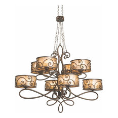 Windsor Chandelier, Aged Silver, Silver, 40-Light
