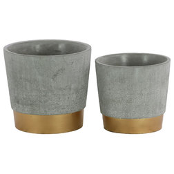 Industrial Outdoor Pots And Planters by VirVentures