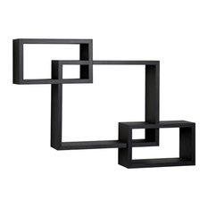Intersecting Wall Shelf, Black