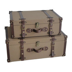 Canvas Suitcases - Set of 2