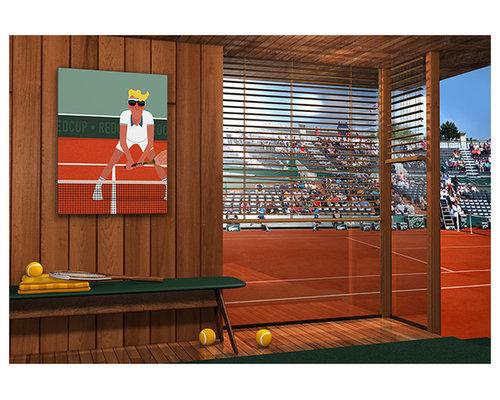 Poster déco tennis Roland Garros - Décoration Murale Enfant