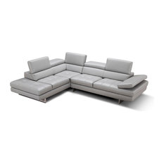 Aurora Italian Leather Sectional, Left Hand Facing