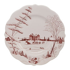 Juliska - Juliska Country Estate Winter Frolic Ruby Dinner Plate Christmas Eve - Holiday Dinnerware  sc 1 st  Houzz & 50 Most Popular Contemporary Holiday Dinnerware for 2018 | Houzz