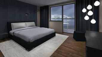 Schlafzimmer mit Ausblick