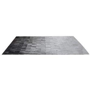 Linie Fade Leather Rug, Grey, 140x200 cm