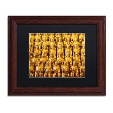 "Philippe Hugonnard 'Longhua Temple' Art, Wood Frame, Black Matte, 14""x11"""