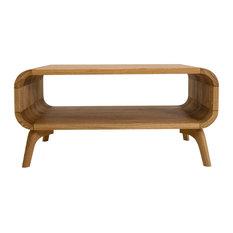 Isla Coffee Table Solid Oak Wood, Natural Oak