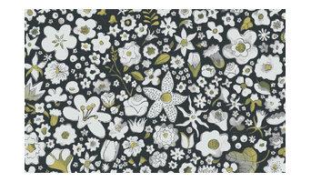 Perennial Wallpaper, Gray