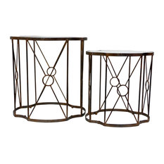 Copper Quatrefoil Table Antique Set Of 2 by Accents for the Home