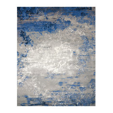 Nourison Twilight Blue and Grey Rug, 168x244 Cm