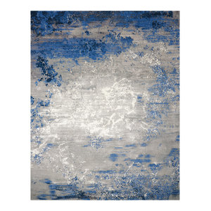 Nourison Twilight Blue and Grey Rug, 297x419 Cm