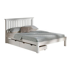 Barcelona Queen Bed With Storage Drawers, White