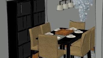 DC Condo Dining Room - cool tones