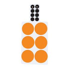 Spots Chopping Boards, Orange, Set of 2